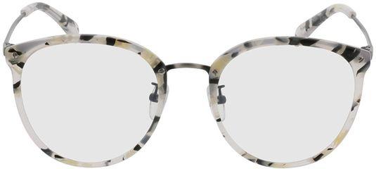 Picture of glasses model Charlotte-black-mottled-white-gun in angle 0