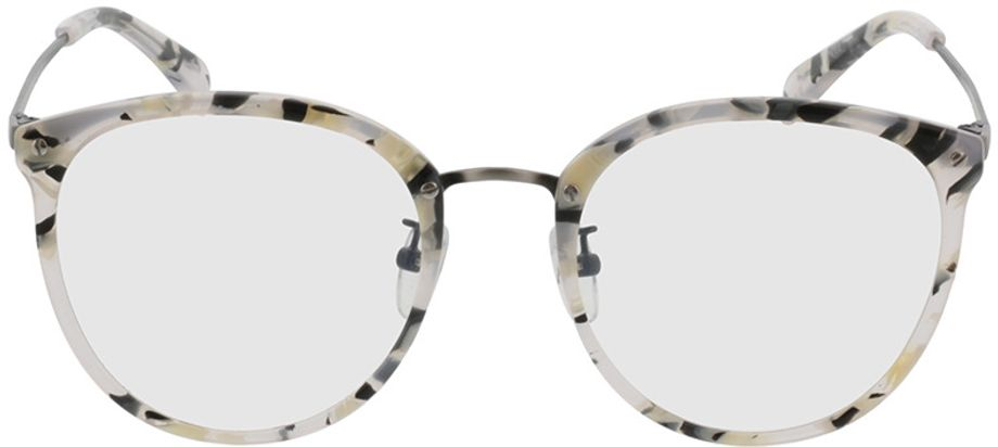 Picture of glasses model Charlotte-schwarz-weiß-meliert/anthrazit in angle 0