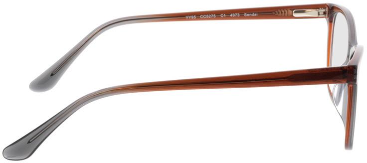 Picture of glasses model Sendai-brun in angle 90