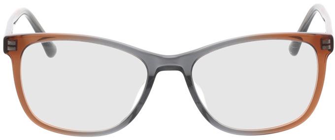 Picture of glasses model Sendai-brun in angle 0