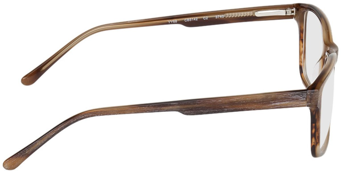 Picture of glasses model Rotterdam-brown-mottled in angle 90