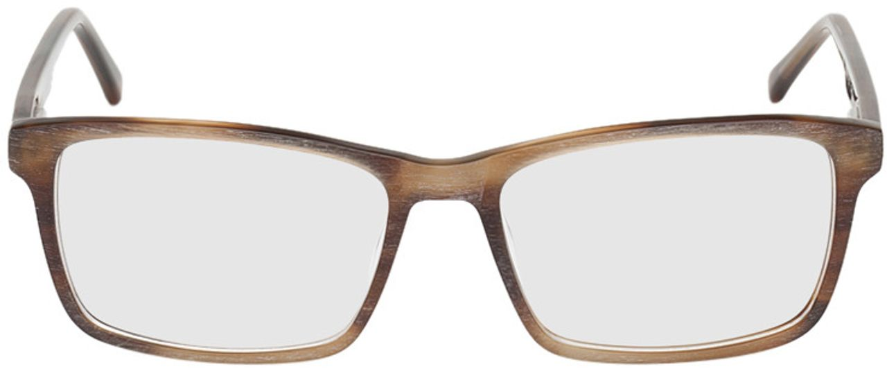 Picture of glasses model Rotterdam-brown-mottled in angle 0