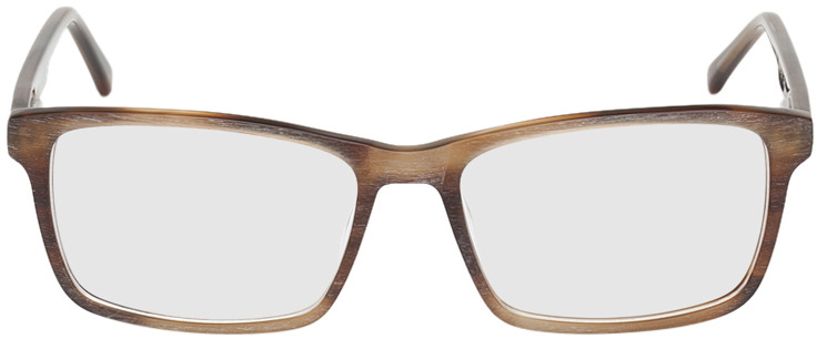Picture of glasses model Rotterdam-braun-meliert in angle 0