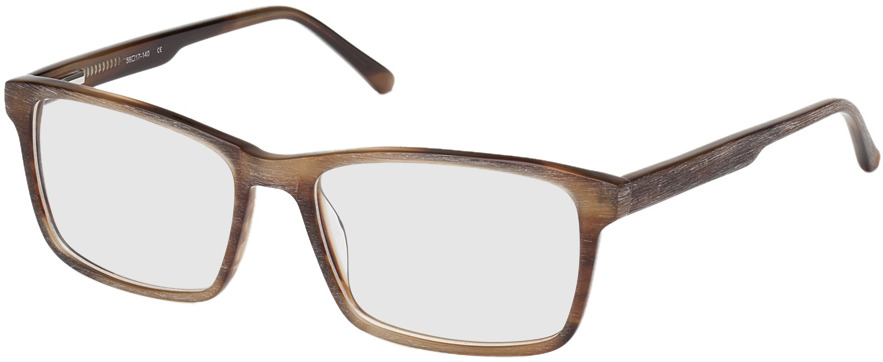 Picture of glasses model Rotterdam-braun-meliert in angle 330