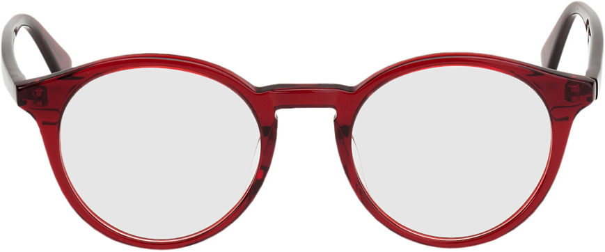 Picture of glasses model Oldenburg-rot in angle 0