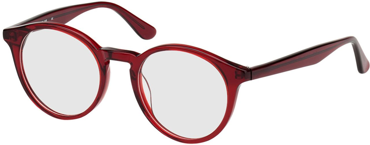Picture of glasses model Oldenburg-rot in angle 330
