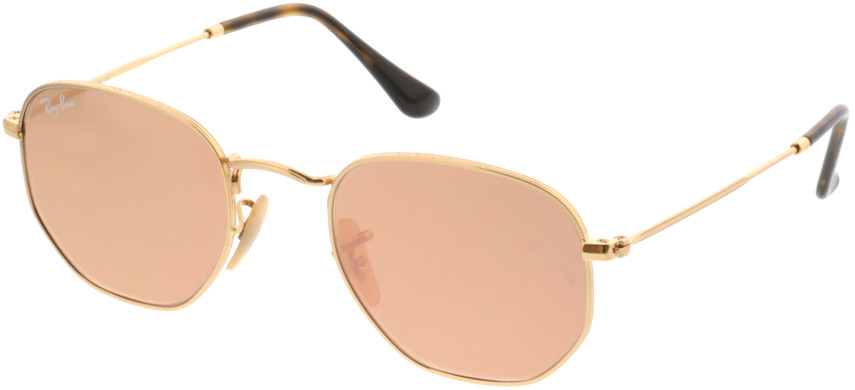Picture of glasses model Ray-Ban RB3548N 001/Z2 48-21 in angle 330