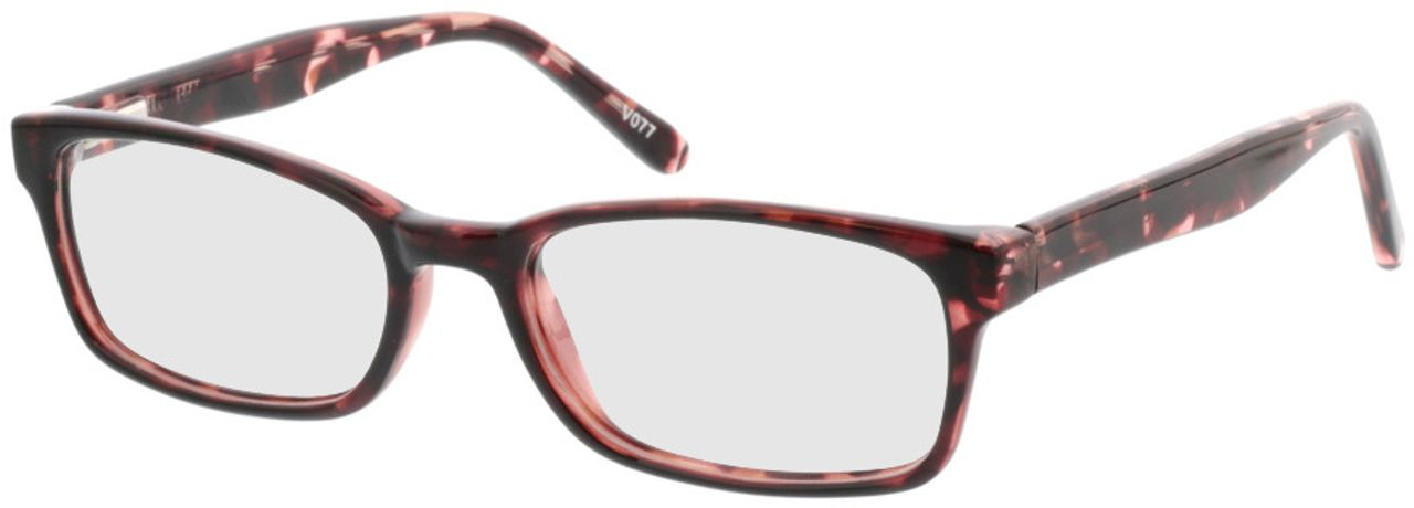 Picture of glasses model Bruna-pink-meliert in angle 330