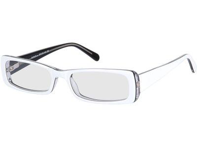 Brille Laxey-weiß/schwarz