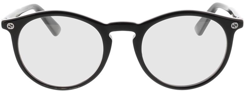 Picture of glasses model Gucci GG0121O-001 49-21 in angle 0