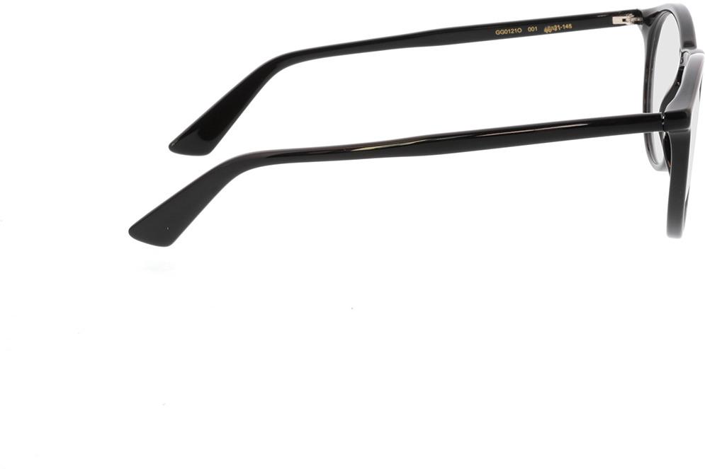 Picture of glasses model Gucci GG0121O-001 49-21 in angle 90