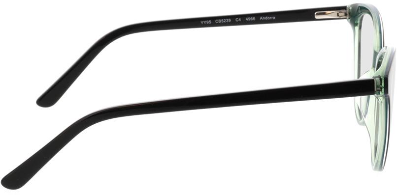 Picture of glasses model Andorra-noir/vert in angle 90