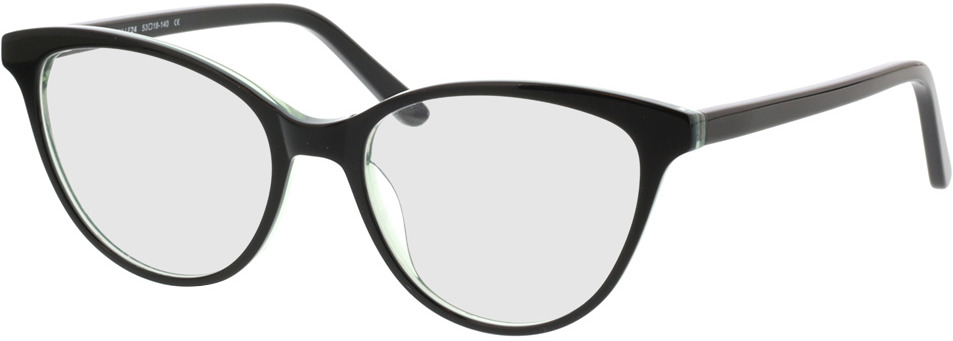 Picture of glasses model Andorra-noir/vert in angle 330