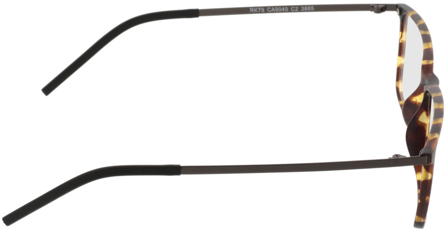 Picture of glasses model Paterna-braun-gelb-meliert in angle 90