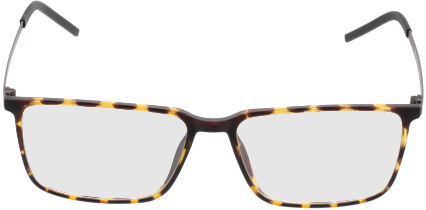 Picture of glasses model Paterna-braun-gelb-meliert in angle 0
