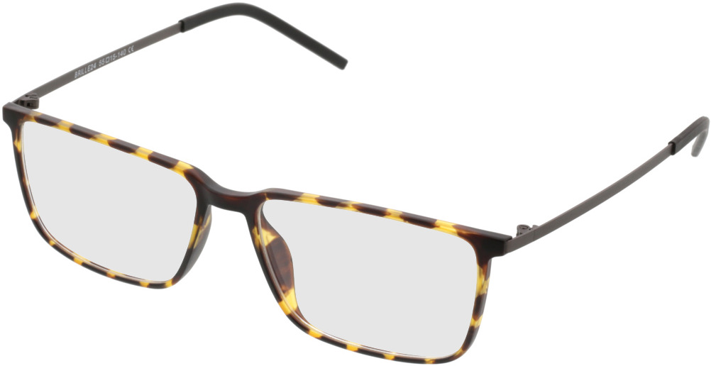 Picture of glasses model Paterna-braun-gelb-meliert in angle 330