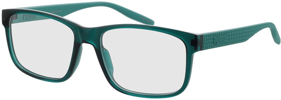 Picture of glasses model Puma PU0280O-004 57-17 in angle 330