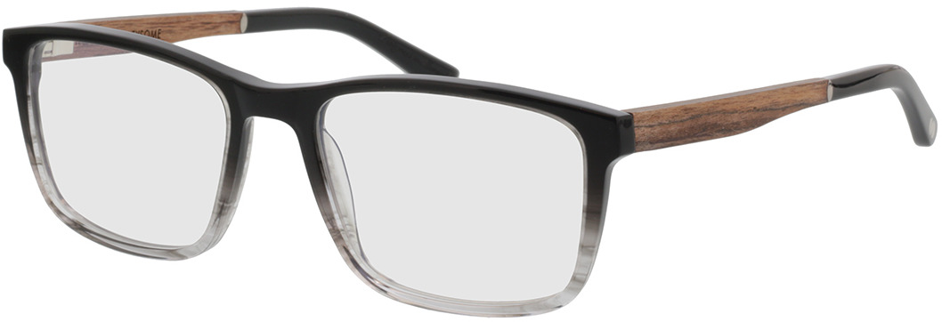 Picture of glasses model Wood Fellas Optical Eysome macassar/black 57-20 in angle 330