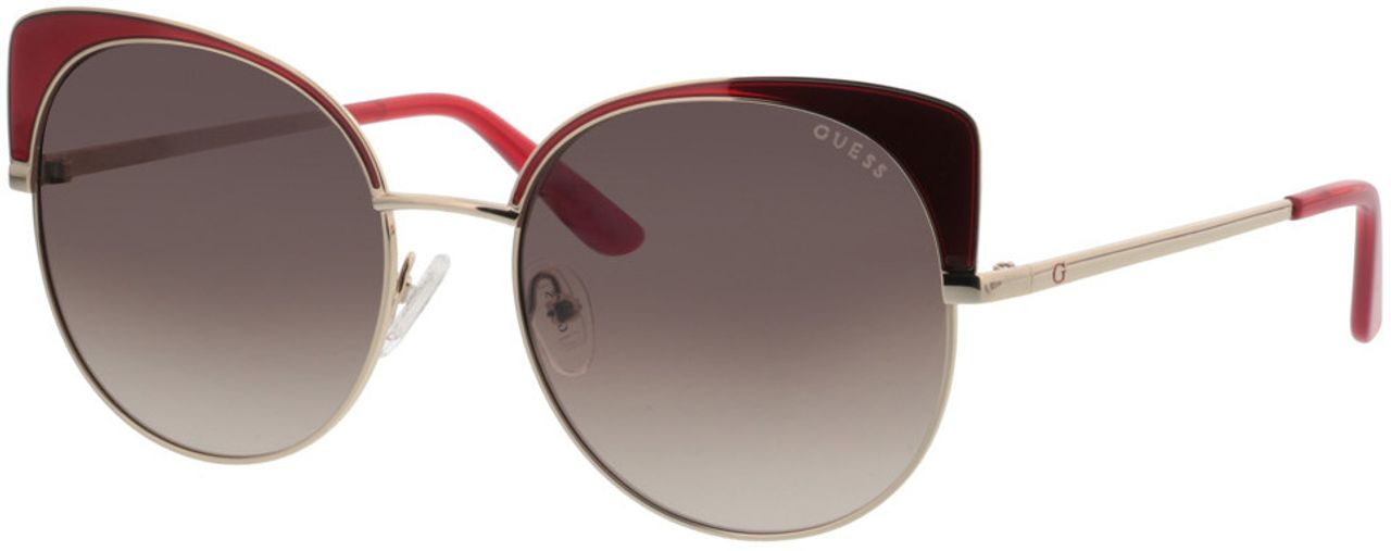 Picture of glasses model Guess GU7599 71F 56-17 in angle 330