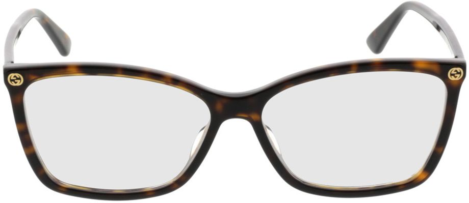 Picture of glasses model Gucci GG0025O-002 56-14 in angle 0