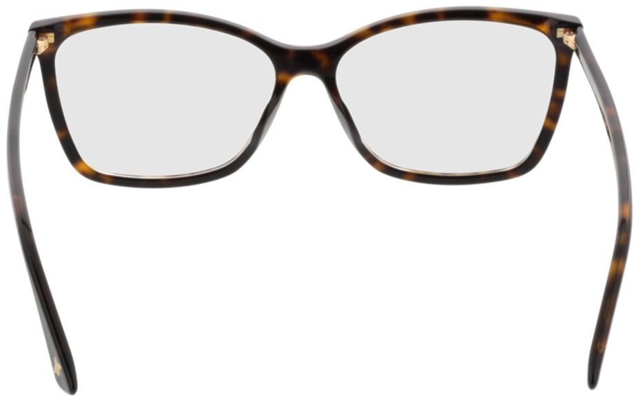 Picture of glasses model Gucci GG0025O-002 56-14 in angle 180