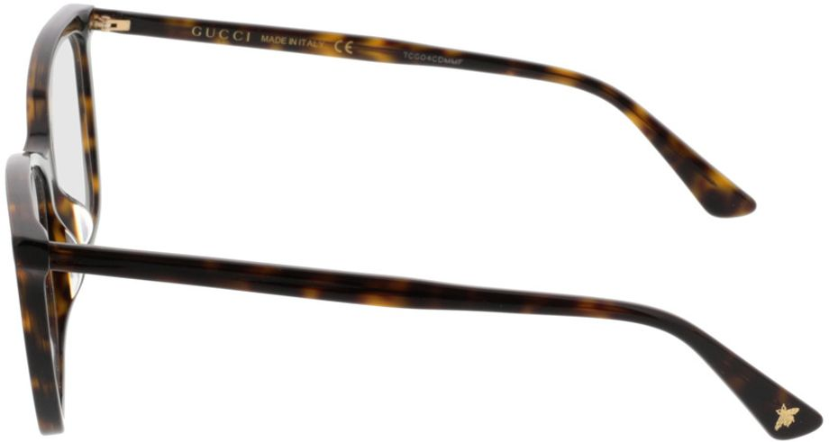Picture of glasses model Gucci GG0025O-002 56-14 in angle 270
