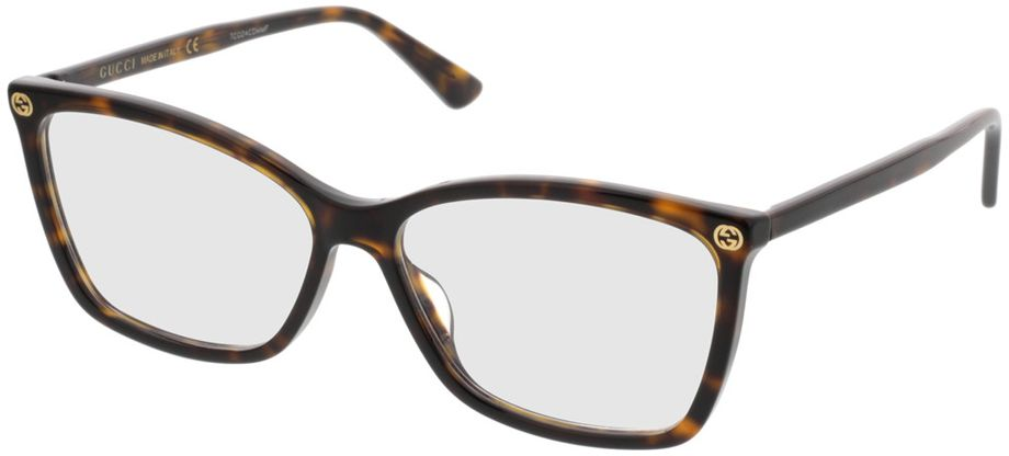 Picture of glasses model Gucci GG0025O-002 56-14 in angle 330