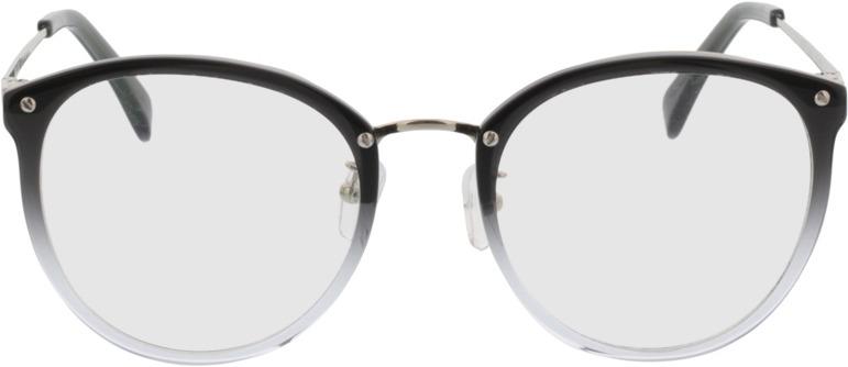 Picture of glasses model Charlotte Cinzento/gradient/prateado in angle 0