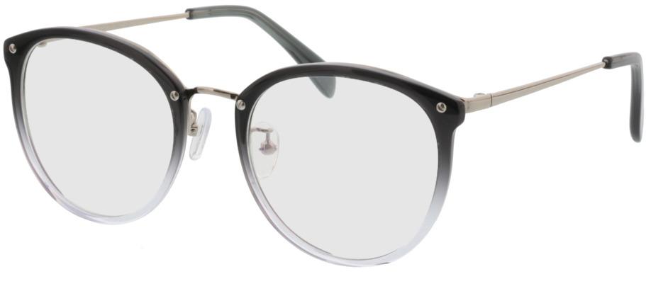 Picture of glasses model Charlotte Cinzento/gradient/prateado in angle 330