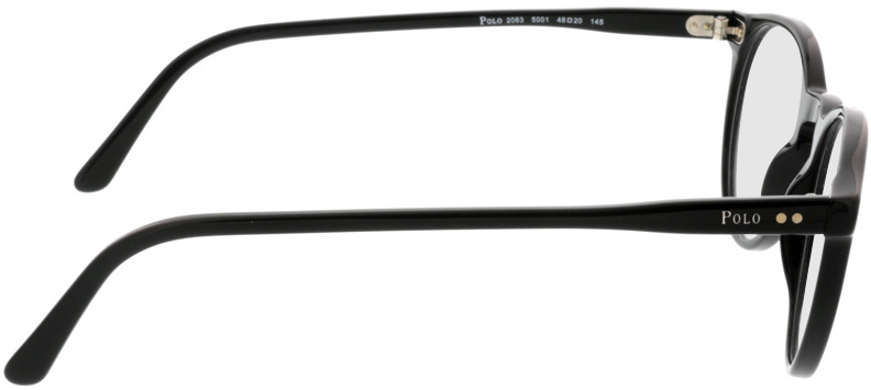 Picture of glasses model Polo Ralph Lauren PH2083 5001 48-20 in angle 90