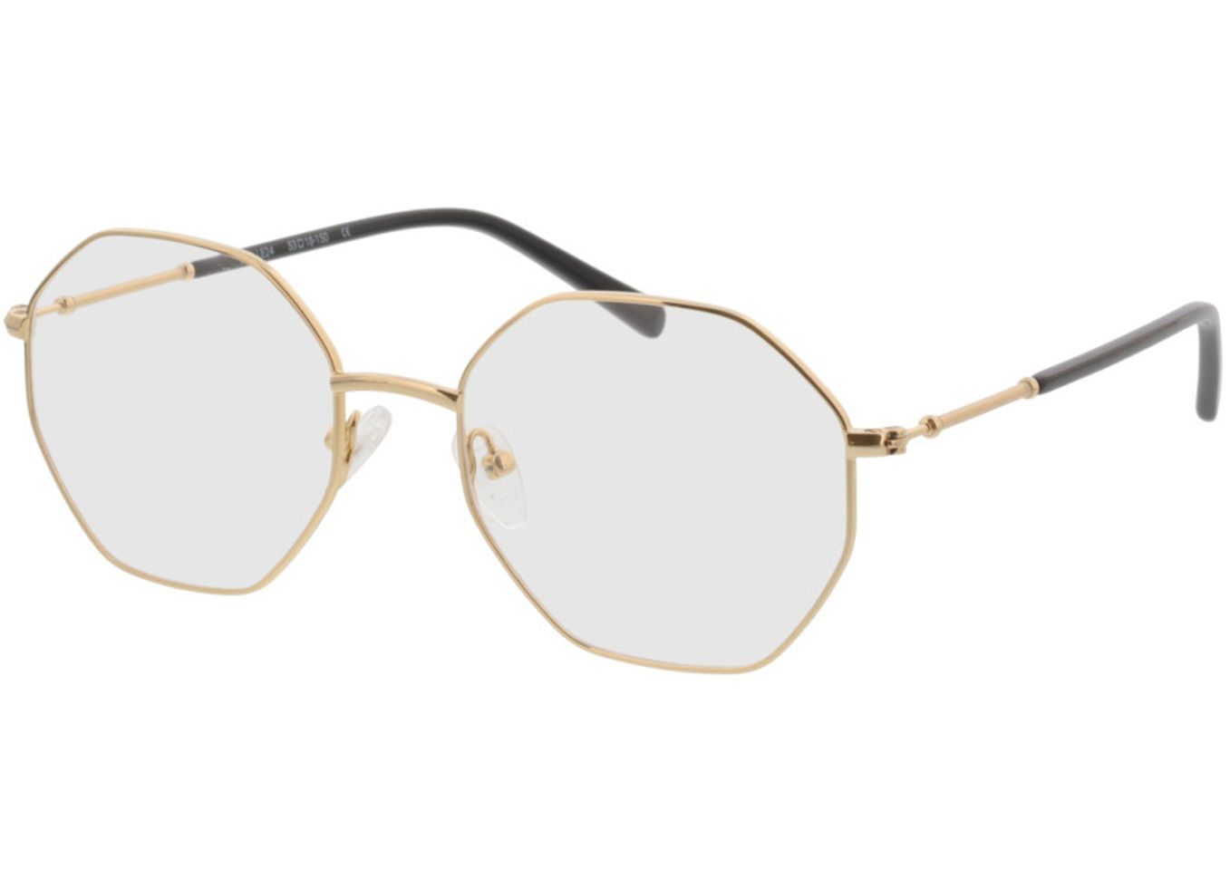 4153-singlevision-0000 Comox-gold Gleitsichtbrille, Vollrand, Eckig Brille24 Collection