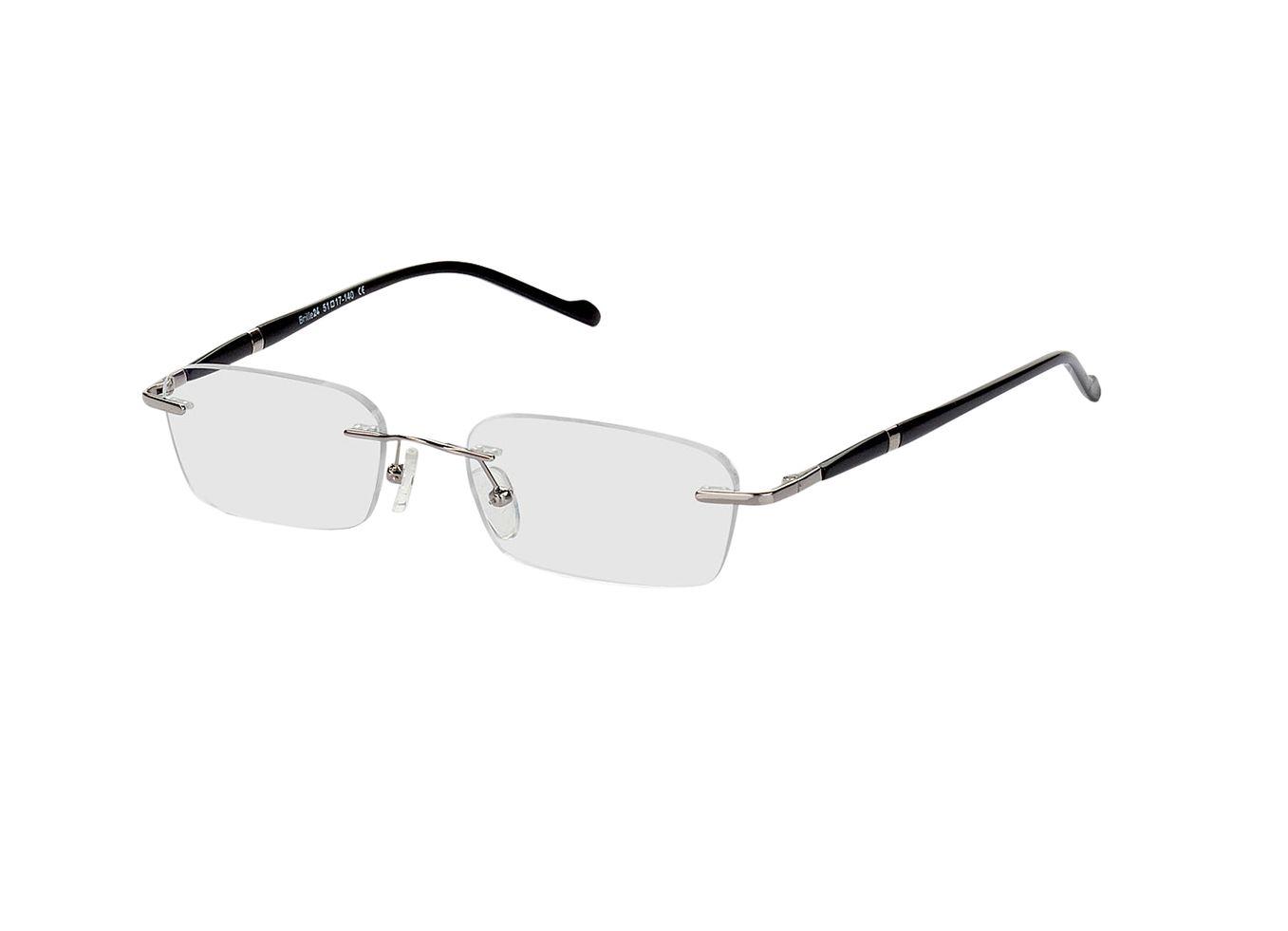 2916-singlevision-0000 Timaru-silber/schwarz Gleitsichtbrille, Randlos, Dünn Brille24 Collection