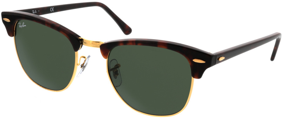 Picture of glasses model Ray-Ban Clubmaster RB3016 W0366 51 21