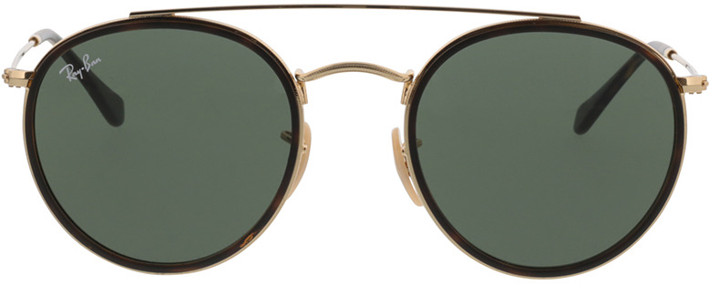 Picture of glasses model Ray-Ban Round Double Bridge RB3647N 001 51-22 in angle 0