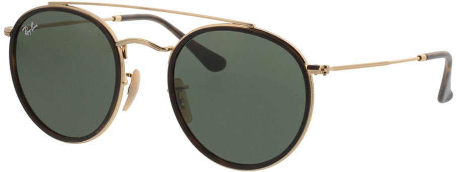 Picture of glasses model Ray-Ban Round Double Bridge RB3647N 001 51-22