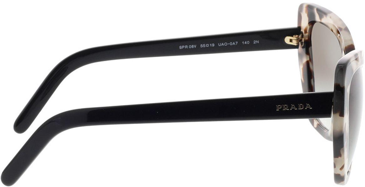 Picture of glasses model Prada PR 08VS UAO0A7 55-19 in angle 90