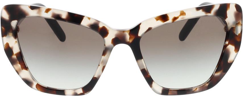 Picture of glasses model Prada PR 08VS UAO0A7 55-19 in angle 0