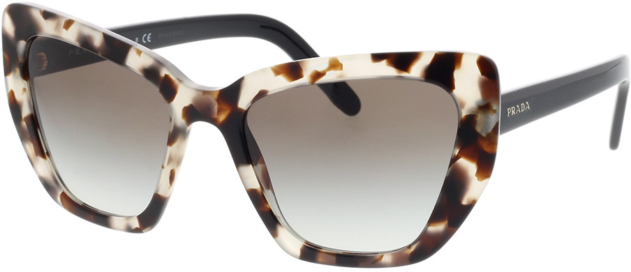 Picture of glasses model Prada PR 08VS UAO0A7 55-19 in angle 330