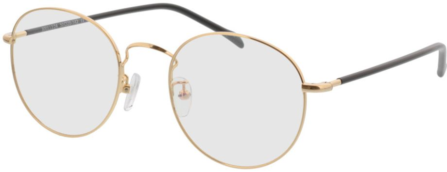 Picture of glasses model Concorde-gold-black in angle 330
