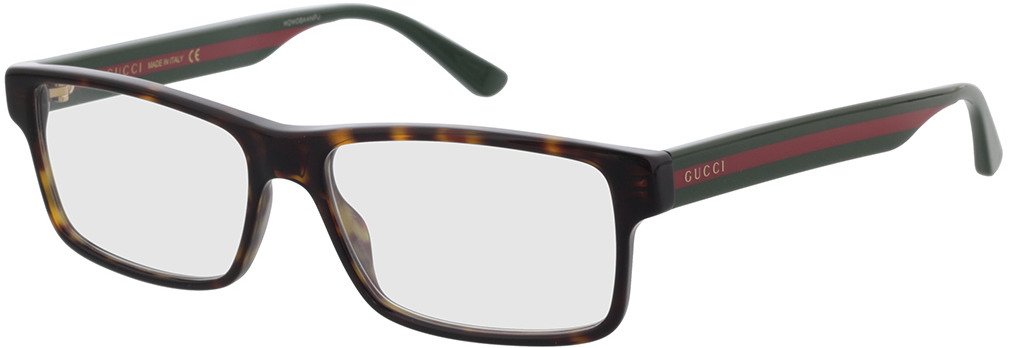 Picture of glasses model Gucci GG0752O-002 56-16 in angle 330