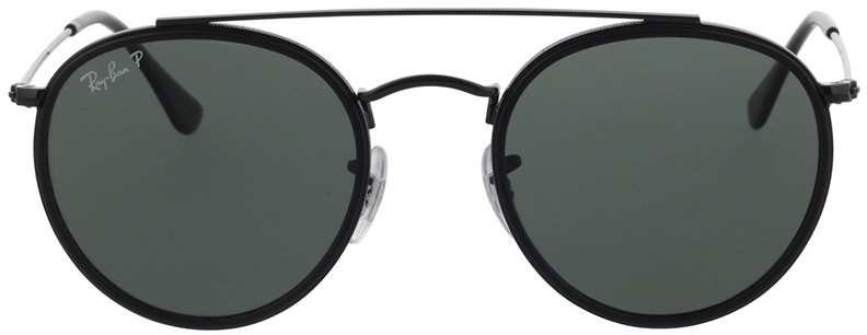 Picture of glasses model Ray-Ban Round Double Bridge RB3647N 002/58 51-22 in angle 0