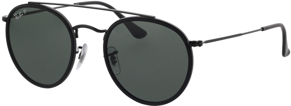 Picture of glasses model Ray-Ban Round Double Bridge RB3647N 002/58 51-22