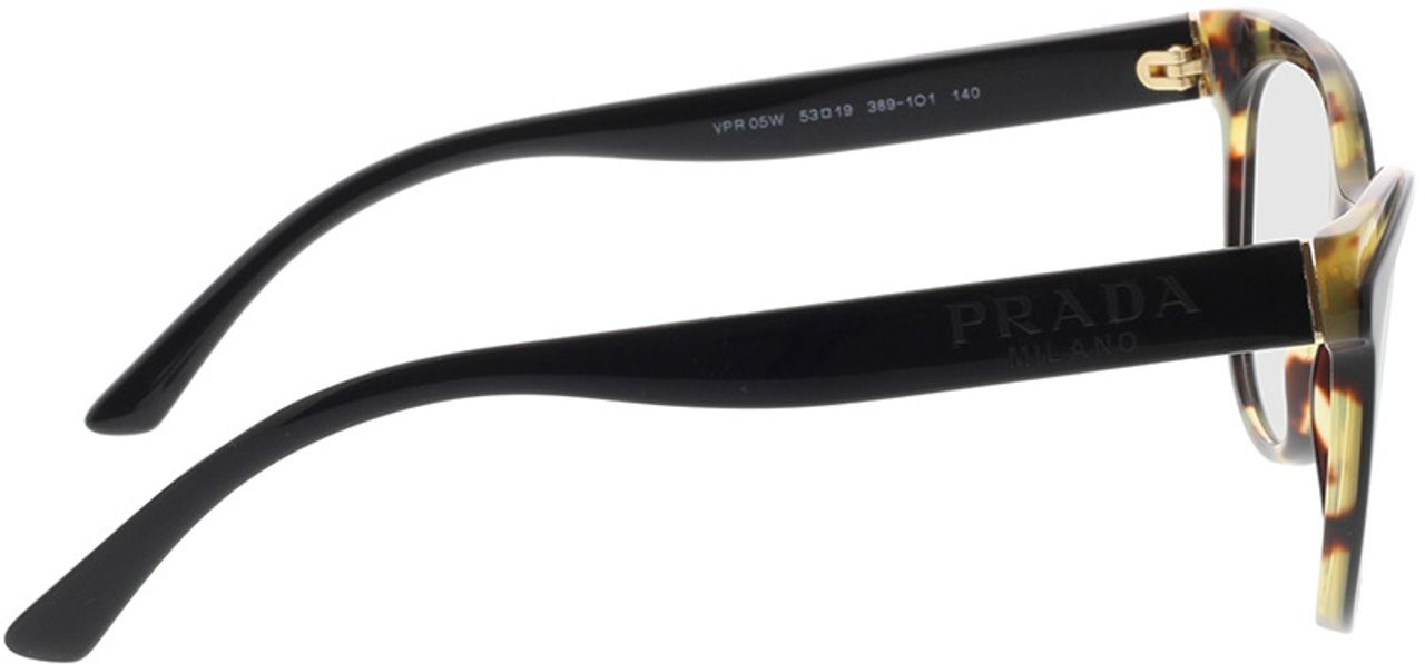 Picture of glasses model Prada PR 05WV 3891O1 53-19 in angle 90