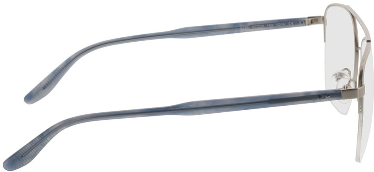 Picture of glasses model Zeus-silber/grau horn in angle 90