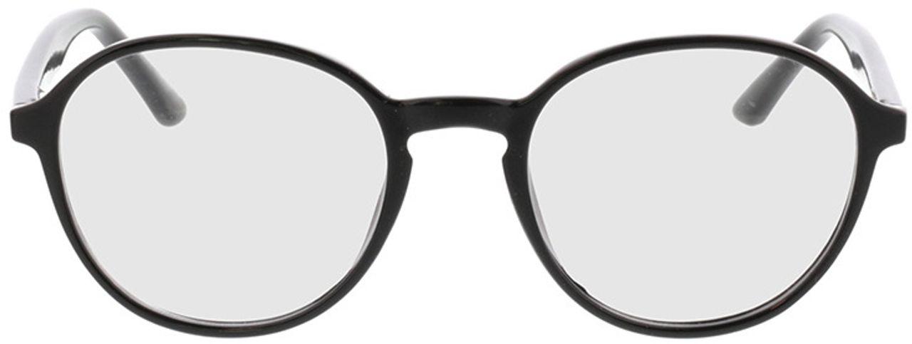 Picture of glasses model Decio-schwarz in angle 0