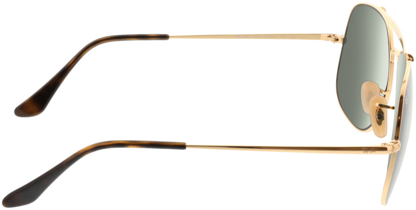 Picture of glasses model Ray-Ban RB3561 001 57-17 in angle 90