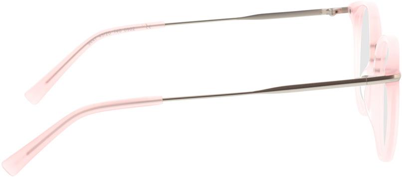 Picture of glasses model Dolina-rosa/matt silber in angle 90