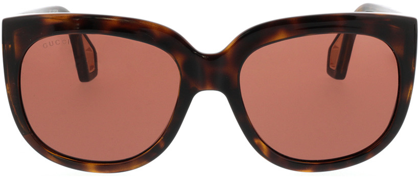 Picture of glasses model Gucci GG0468S-002 57-19 in angle 0