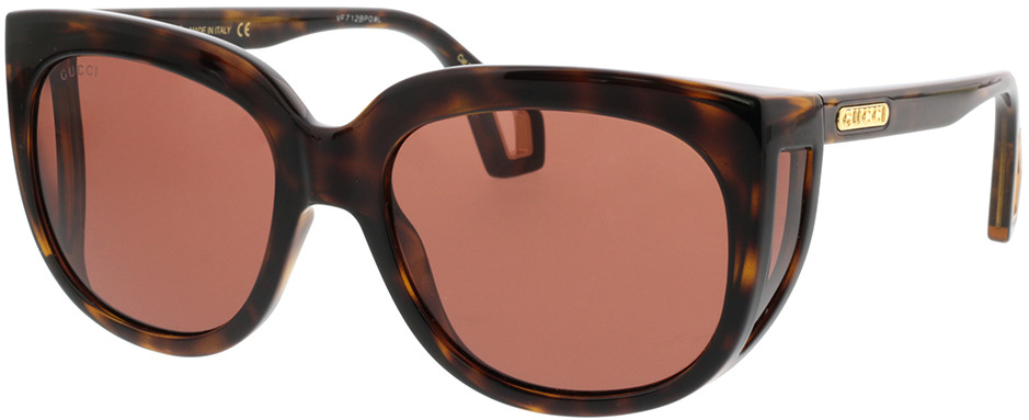 Picture of glasses model Gucci GG0468S-002 57-19 in angle 330