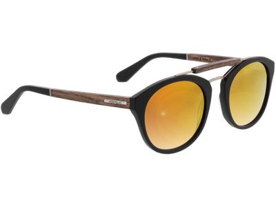 Brille Wood Fellas Sunglasses Auerburg walnut/black 50-21